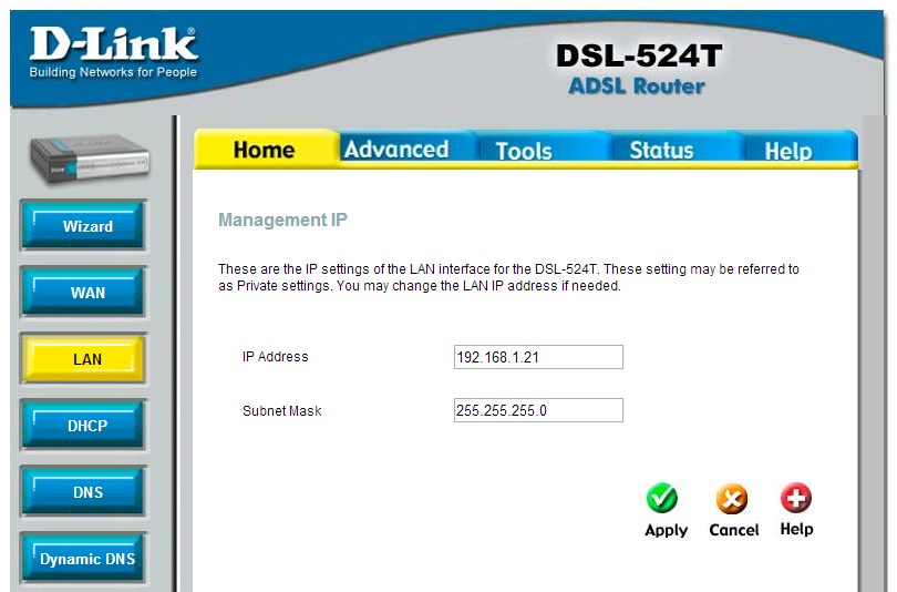 Configuracion LAN